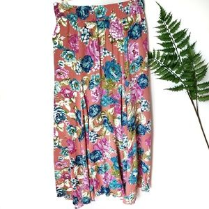 Anthro Lapis Floral Skirt Size Medium